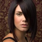 Модная стрижка на средние волосы