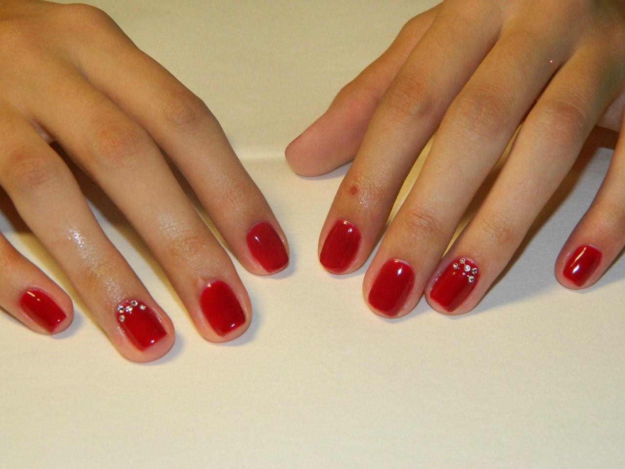 Покрытие гель лаком на короткие ногти с рисунком фото