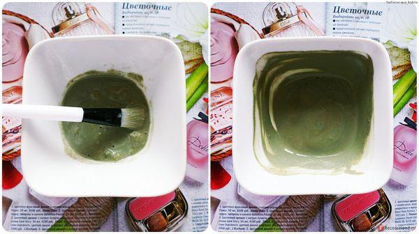 Маска с солью и зеленой глиной