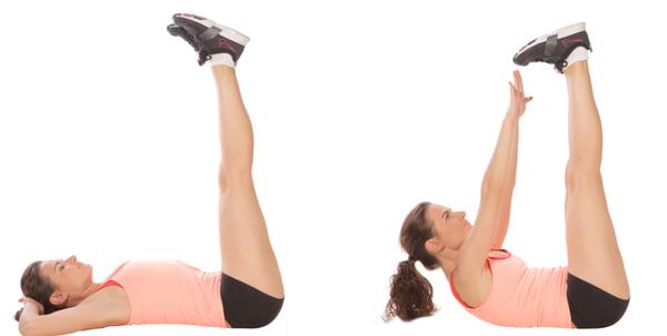 Как накачать пресс упражнения