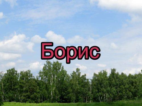 Имя Борис (Боря) — происхождение, значение, судьба