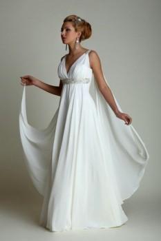 Свадебные платья в греческом стиле. Фото.