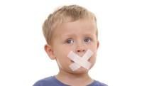 Plaster over child's lips