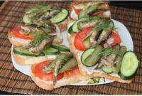 бутерброды со шпротами рецепты с фото