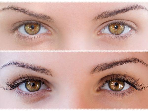 Моделирование ресниц фото до и после 3